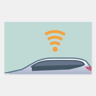 Car Wifi Vector Rectangular Sticker