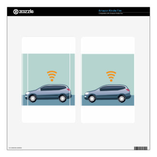 Car Wifi Vector Skins For Kindle Fire