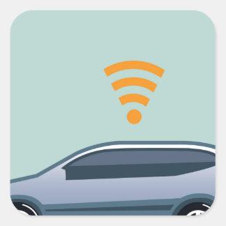 Car Wifi Vector Square Sticker