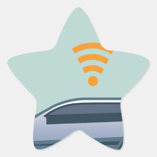 Car Wifi Vector Star Sticker