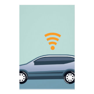 Car Wifi Vector Stationery