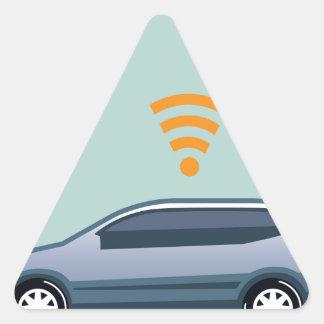 Car Wifi Vector Triangle Sticker