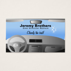 Car Window Repair Business Cards at Zazzle