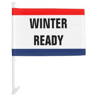 Car Winter Ready Promo Signage Customizable Car Flag