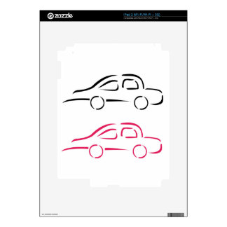 Car with abstract lines iPad 2 decal