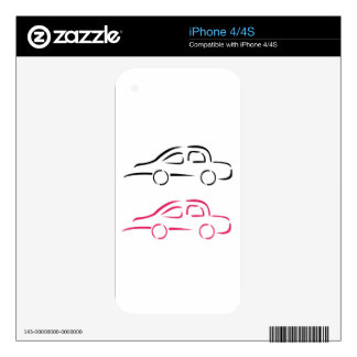 Car with abstract lines iPhone 4 decal