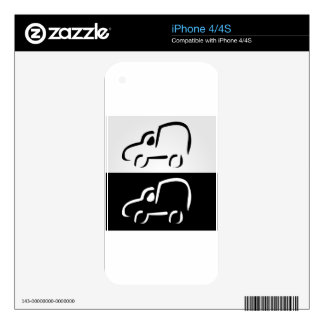 Car with abstract lines skins for iPhone 4S