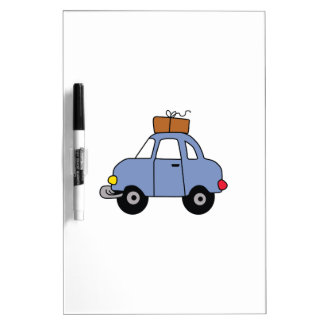CAR WITH LUGGAGE Dry-Erase WHITEBOARD