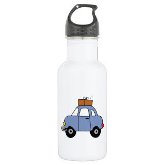 CAR WITH LUGGAGE STAINLESS STEEL WATER BOTTLE