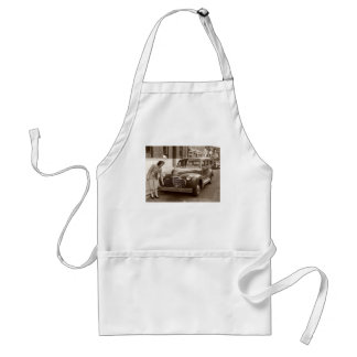 Car with Wooden Bumper WWII Adult Apron