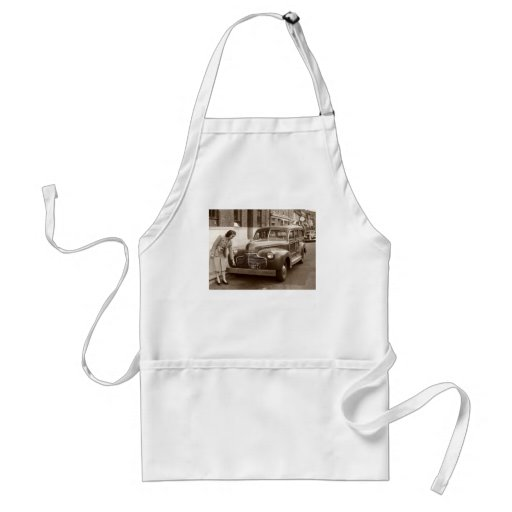 Car with Wooden Bumper WWII Apron