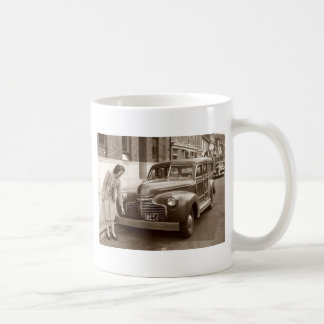 Car with Wooden Bumper WWII Classic White Coffee Mug