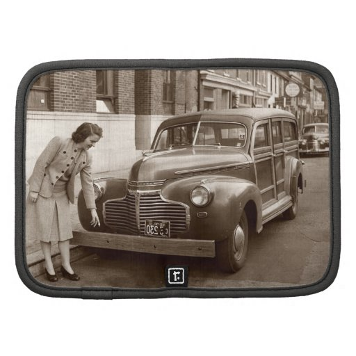 Car with Wooden Bumper WWII Planner