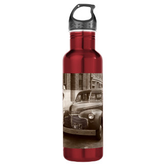 Car with Wooden Bumper WWII Stainless Steel Water Bottle