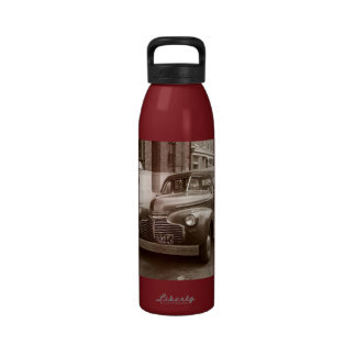 Car with Wooden Bumper WWII Water Bottle