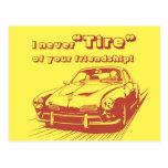 Car Word Play School Kids Valentines Day Postcard