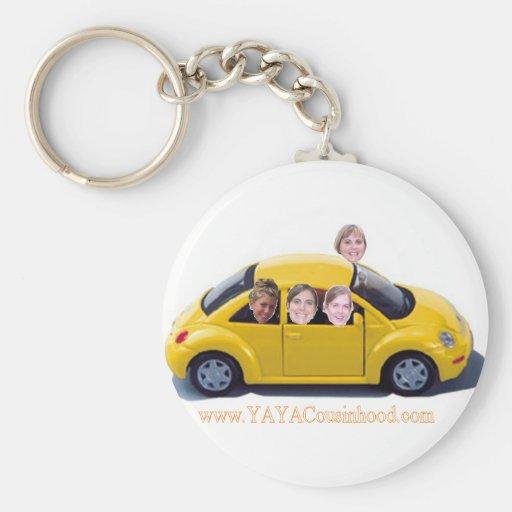 Car YaYaCousinhood Basic Round Button Keychain