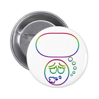 Cara #10 (con la burbuja del discurso) pin redondo 5 cm
