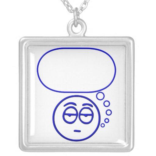 Cara #1 (con la burbuja del discurso) colgante cuadrado