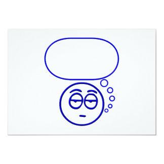 Cara #1 (con la burbuja del discurso) invitación 12,7 x 17,8 cm