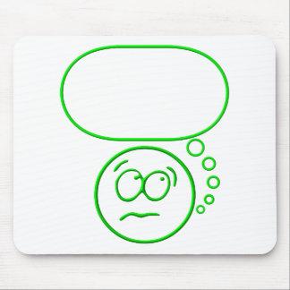Cara #2 (con la burbuja del discurso) mousepads