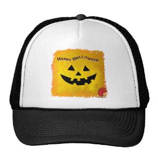 Cara 2 de la calabaza de Halloween Gorros Bordados