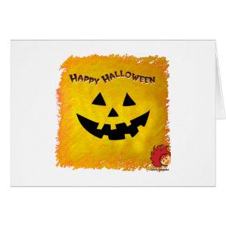 Cara 2 de la calabaza de Halloween Tarjeta De Felicitación