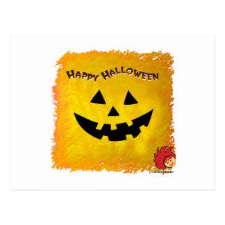 Cara 2 de la calabaza de Halloween Tarjeta Postal