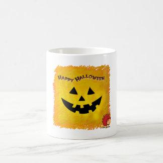 Cara 2 de la calabaza de Halloween Taza Clásica