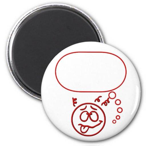 Cara #3 (con la burbuja del discurso) imán
