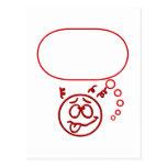 Cara #3 (con la burbuja del discurso) postal