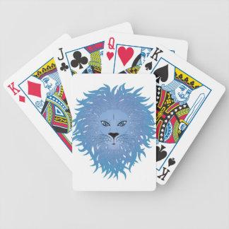 Cara 5 del león baraja cartas de poker