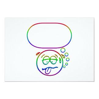 """Cara #9 (con la burbuja del discurso) invitación 5"""" x 7"""""""