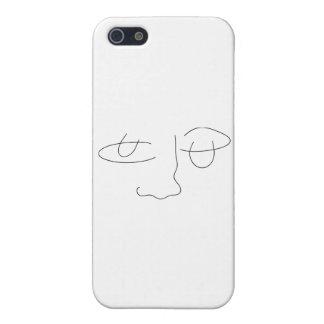 Cara abstracta iPhone 5 carcasa