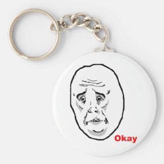 Cara aceptable Meme de la rabia del individuo Llavero Redondo Tipo Pin