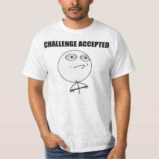 Cara aceptada desafío Meme cómico de la rabia Playeras