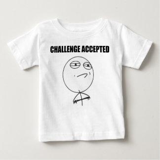 Cara aceptada desafío Meme cómico de la rabia Polera