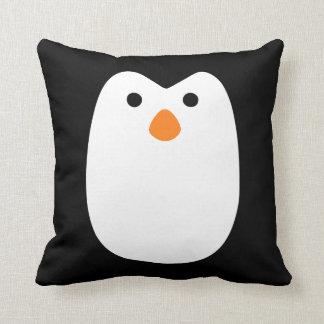 cara adorablemente linda del pingüino cojines