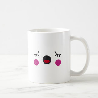 Cara agujereada taza de café