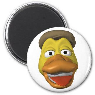 Cara amarilla del smiley de la cara del pato imán