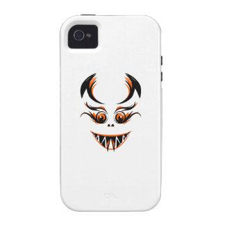 Cara anaranjada asustadiza iPhone 4/4S carcasas