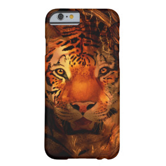 Cara anaranjada del tigre funda de iPhone 6 barely there