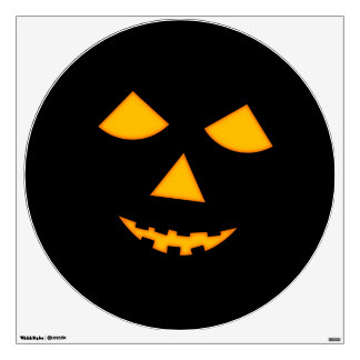 Cara anaranjada linda Halloween de la calabaza de