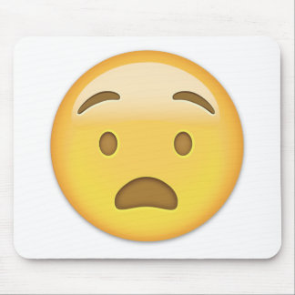 Cara angustiada Emoji Tapetes De Ratón
