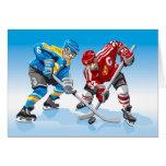 Cara-Apagado del jugador del hockey sobre hielo de