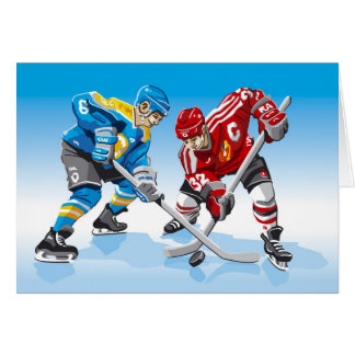Cara-Apagado del jugador del hockey sobre hielo de Felicitación
