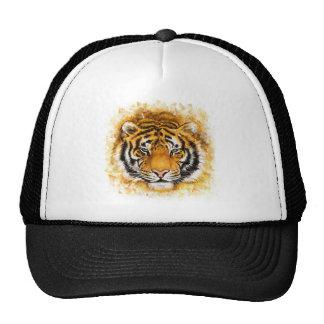 Cara artística del tigre gorros bordados