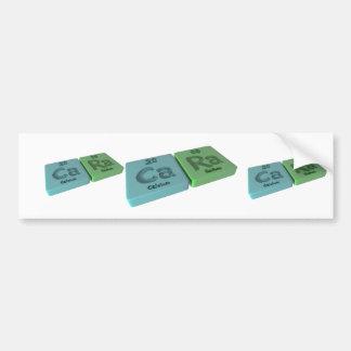 Cara  as Calcium Ca  and Radium Ra Bumper Stickers