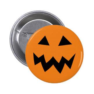 Cara asustadiza de la calabaza de Halloween que Pin Redondo 5 Cm