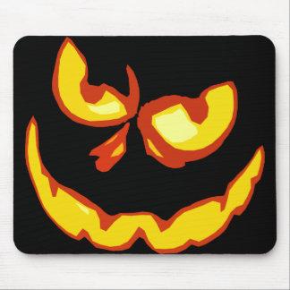 Cara asustadiza de la linterna de Halloween Jack O Alfombrilla De Ratones